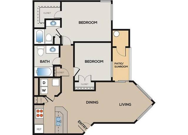 A 2D drawing of the Brookstone floor plan