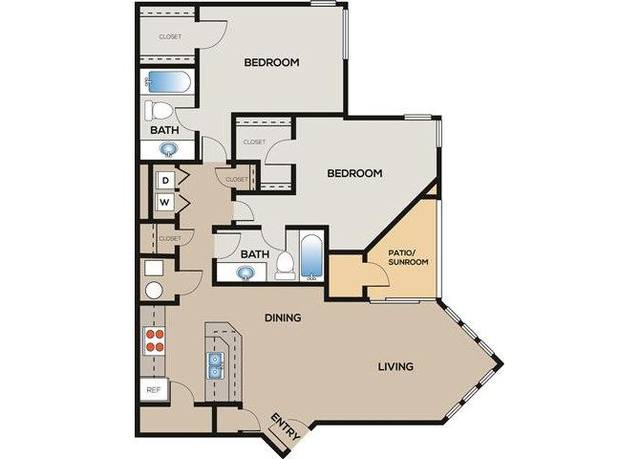 A 2D drawing of the Buckingham floor plan