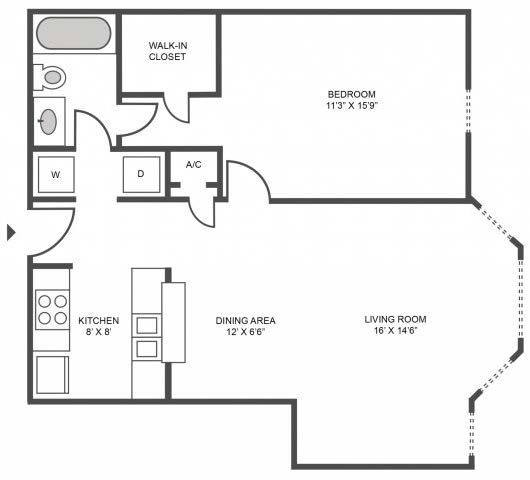 A 2D drawing of the Cypress floor plan
