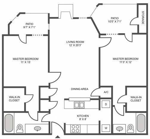 A 2D drawing of the Maple floor plan