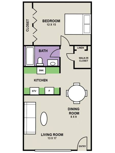A 2D drawing of the Meridian floor plan