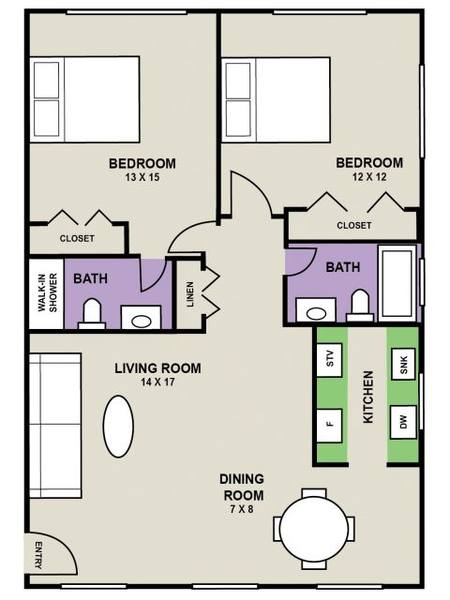 A 2D drawing of the Windsor floor plan