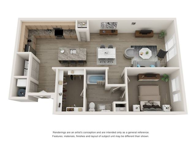 A 2D drawing of the A25 floor plan