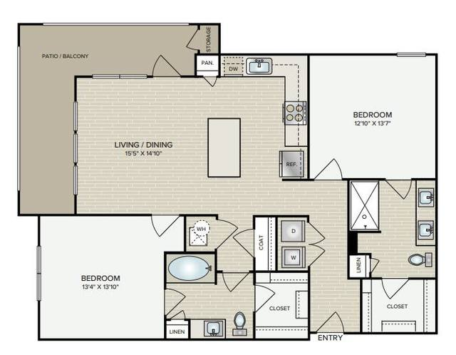 A 2D drawing of the B2.5 floor plan