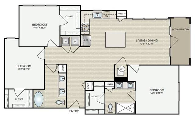 A 2D drawing of the C1.1 floor plan