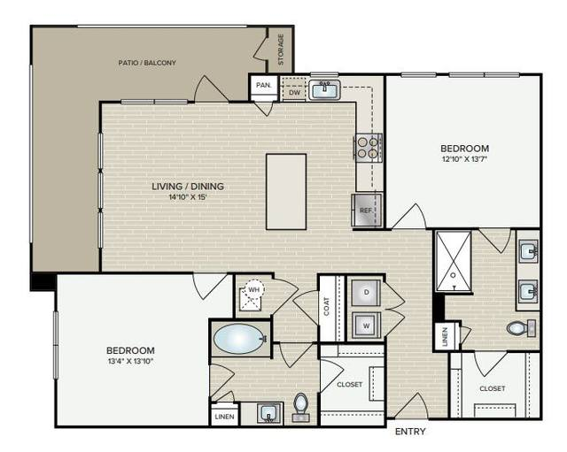 A 2D drawing of the B2.4 floor plan