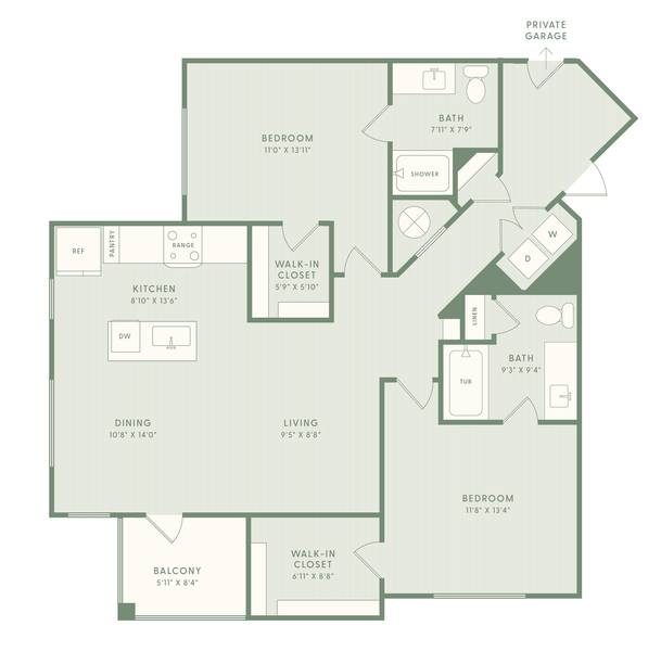 A 2D drawing of the B2HC floor plan