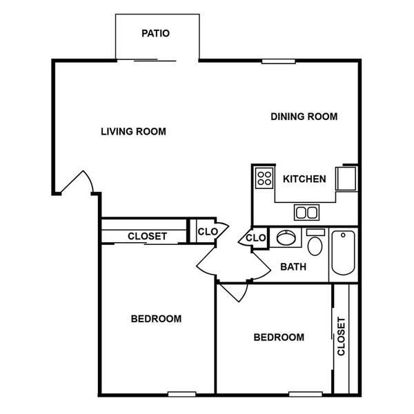 A 2D drawing of the 2G floor plan