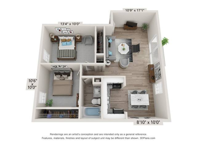 A 2D drawing of the 2A floor plan