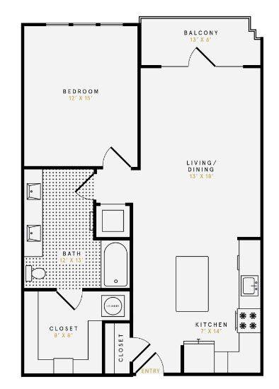 A 2D drawing of the A3 floor plan