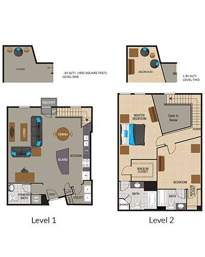 A 2D drawing of the LB1 floor plan