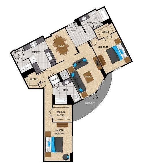 A 2D drawing of the TB4 floor plan