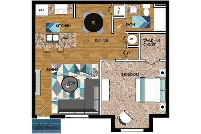 A 2D drawing of the Allister floor plan