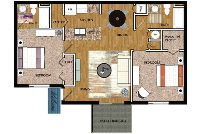 A 2D drawing of the Palm floor plan