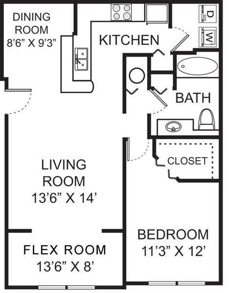 A 2D drawing of the A2 floor plan