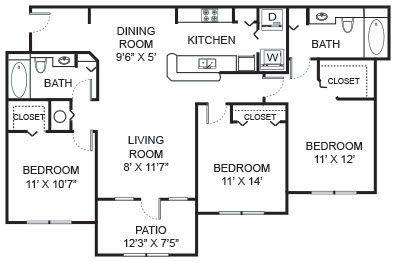 A 2D drawing of the C2 floor plan