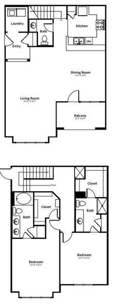 A 2D drawing of the B4TH floor plan