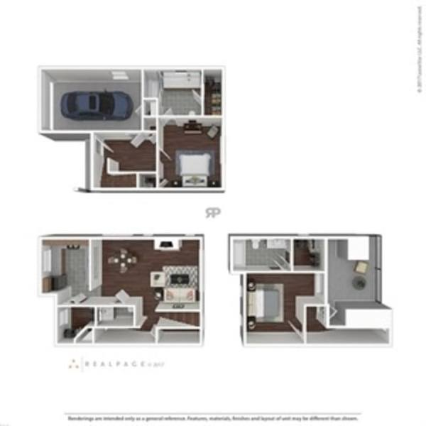 A 3D rendering of the B4TH floor plan