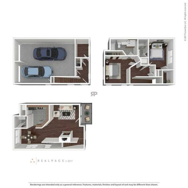 A 3D rendering of the B3TH floor plan